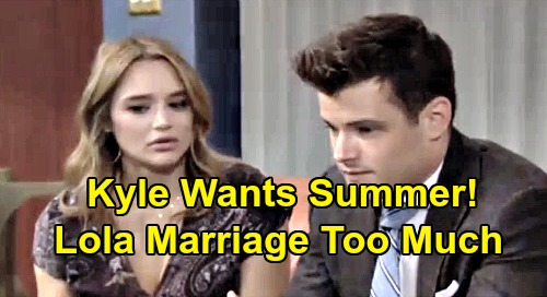The Young and the Restless Spoilers: Kyle Regrets Dumping Summer - Overwhelmed In Lola Marriage, Wants Do-Over