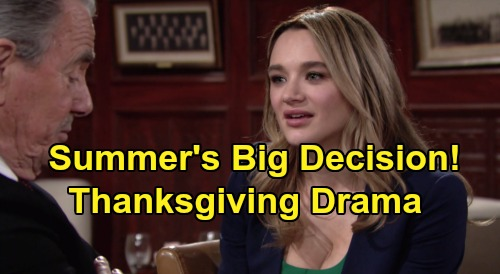 The Young and the Restless Spoilers: Summer Derails Newman Party, Victor Pleads for Forgiveness – Granddaughter's Big Decision