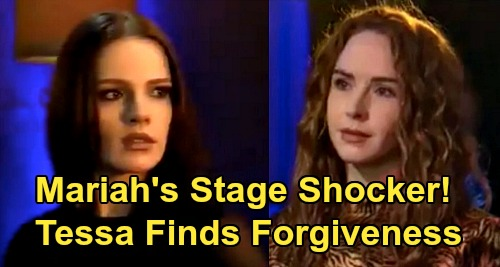 The Young and the Restless Spoilers: Mariah's Stage Shocker - Tessa Finds Forgiveness, Couple Gets Back Together?