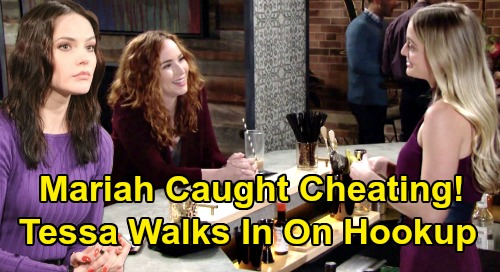 The Young and the Restless Spoilers: Mariah Caught Cheating with Lindsay – Furious Tessa Walks In On Hookup