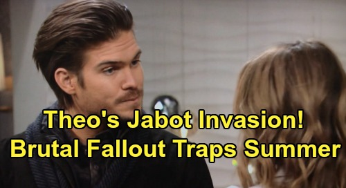 The Young and the Restless Spoilers: Theo's Jabot Invasion, Jack Brings Cousin Into Kyle's Territory – Summer Stuck in Brutal Fallout