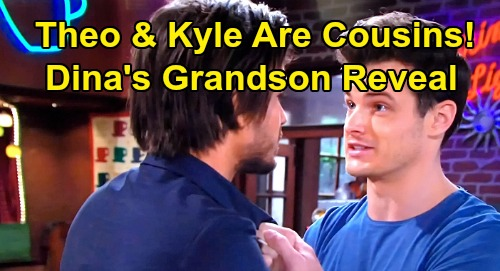 The Young and the Restless Spoilers: Theo Is Dina's Long-Lost Grandson, Kyle's Cousin – Stuart Mystery Leads to Bombshell?