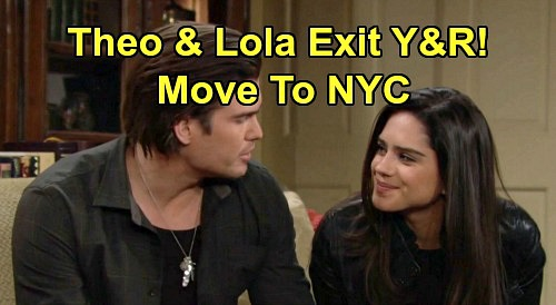 The Young and the Restless Spoilers: Lola & Theo Exit Y&R, Move To NYC - Sasha Calle & Tyler Johnson Leaving CBS Soap