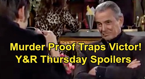 The Young and the Restless Spoilers: Thursday, April 2 – Adam Traps Victor With Murder Proof - Victoria Reclaims Newman Throne