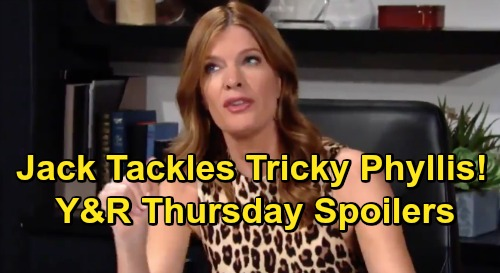 The Young and the Restless Spoilers: Thursday, July 4 – Jack Tackles Tricky Phyllis – Wild Independence Day Celebrations