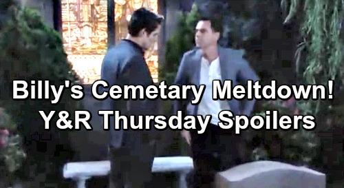The Young and the Restless Spoilers: Thursday, June 20 – Billy's Cemetery Meltdown – Devon's Terror Attack at Neil's Dedication