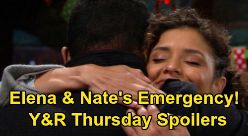 The Young and the Restless Spoilers: Thursday, March 5 – Emergency Brings Elena & Nate's Rescue – Chloe's Baby Time - Devon Confesses