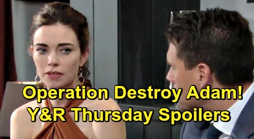 The Young and the Restless Spoilers: Thursday, May 30 – Operation Spy On Adam Begins, Rey Gets Orders – Victoria Fights for Her Future