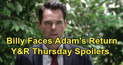 The Young and the Restless Spoilers: Thursday, October 24 – Adam's Return Triggers Billy's Dark Side – Theo's Botched Plan