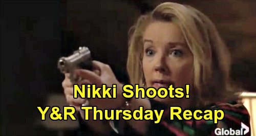 The Young and the Restless Spoilers: Thursday, January 17 Recap – Nikki Fires Gun – Phyllis Sends Victoria Into Cane's Arms