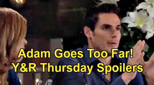 The Young and the Restless Spoilers: Thursday, September 5 – Billy Chaos Erupts – Victor Rejects Shady Offer, Adam Goes Too Far