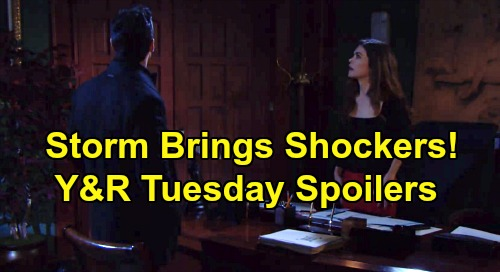 The Young and the Restless Spoilers: Tuesday, December 3 - Rey Surprises Victoria – Billy's Dangerous Amanda Attraction - Storm Shockers