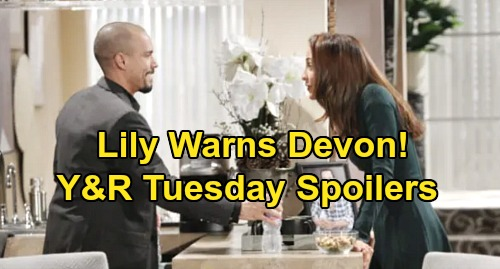 The Young and the Restless Spoilers: Tuesday, January 14 – Lily's Back, Warns Devon – Billy Busted, Lies to Victoria