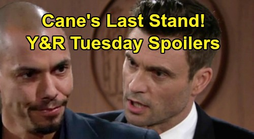 The Young and the Restless Spoilers: Tuesday, November 26 – Cane's Last Stand, Devon Threatens Prison – Kyle's Fierce Jabot Fight