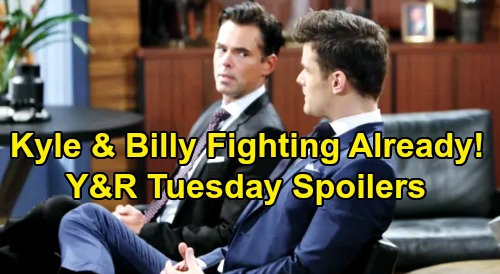 The Young and the Restless Spoilers: Tuesday, October 8 - Phyllis Grills Amanda - Billy & Kyle Fight Over Jabot CEO Office