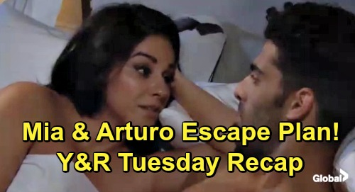 The Young and the Restless Spoilers: Tuesday, May 7 Recap – Mia and Arturo Hook Up, Plan to Skip Town – Adam Contacts Sharon