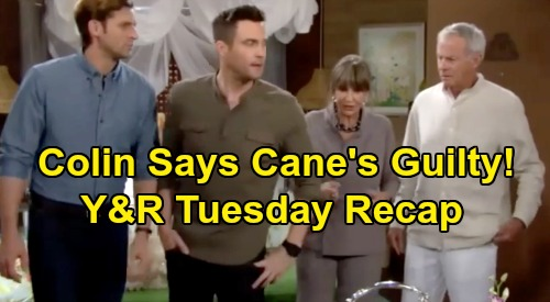 The Young and the Restless Spoilers: Tuesday, November 26 Recap – Colin Insists Cane's Scam Mastermind – Abby's Stolen Jewels Crisis