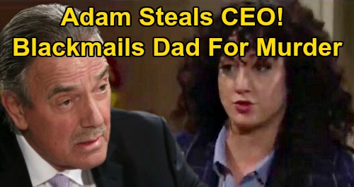 The Young and the Restless Spoilers: Adam Steals Newman CEO Spot - Blackmails Victor Over AJ's Murder - Nick Furious Over Power Play