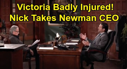 The Young and the Restless Spoilers: Victoria Health Emergency, Out As CEO After Ripley Attack - Nick Takes Over Newman Throne