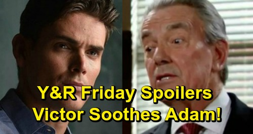 The Young and the Restless Spoilers: Friday, May 3 – Victor Soothes Adam – Sharon and Rey's Wild Discovery, The Moustache Confesses