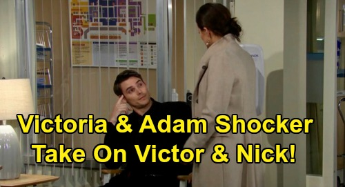 The Young and the Restless Spoilers: Victoria & Adam's Shocking Alliance – Band Together for War On Nick & Victor?