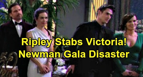 The Young and the Restless Spoilers: Victoria Stabbed by Ripley's Knife During Party Crasher Mayhem – Gruesome End to Newman Gala?