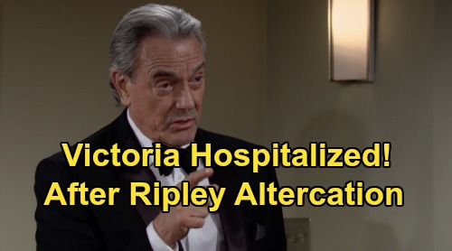 The Young and the Restless Spoilers: Victoria Hospitalized After Ripley Altercation - Newman Gala Disaster – Leaked Video Reveals Shocker?