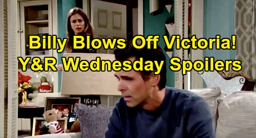 The Young and the Restless Spoilers: Wednesday, January 1 – Victoria Confronts Billy, Amanda On His Mind - Chelsea Rattled by Adam Kiss