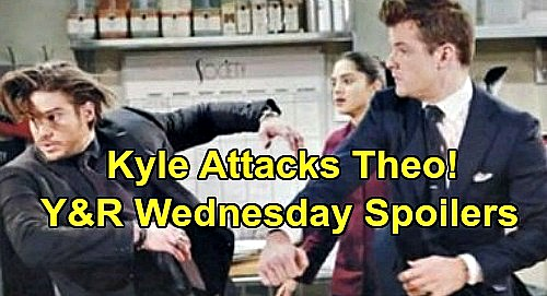 The Young and the Restless Spoilers: Wednesday, January 15 – Rey Consoles Sharon Over Cancer - Kyle Attacks Theo - Nick's SOS Call