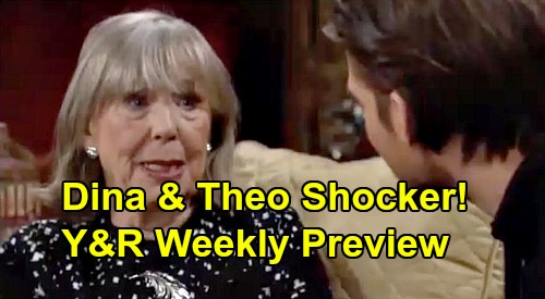 The Young and the Restless Spoilers: Preview Week of November 4 – Dina Meets Theo, Recalls Adoption – Mariah's Mind-Blowing Surprise