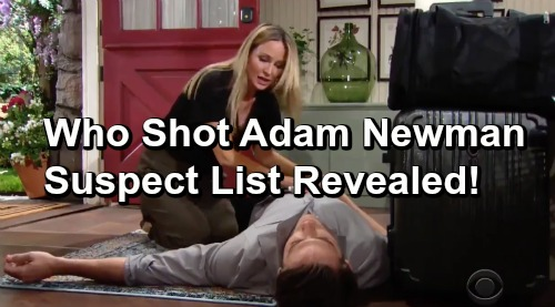 The Young and the Restless Spoilers: Who Shot Adam Newman – Suspect List Revealed