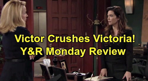 The Young and the Restless Spoilers: Monday, October 7 Review - Victor Bungles Family Relationships - Victoria Declares War On Dad