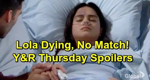 The Young and the Restless Spoilers: Thursday, February 28 – No Matches For Dying Lola - Murder Video Buries Coverup Crew