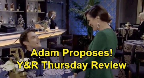 The Young and the Restless Spoilers: Thursday, February 20 Review - Phyllis Kisses Nick - Riley Knifes Victoria - Chelsea Agrees to Marry Adam