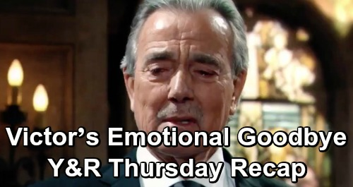 The Young and the Restless Spoilers: Thursday, April 25 Recap – Lily Struggles at Neil's Memorial – Victor's Emotional Goodbye