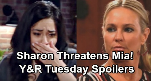 The Young and the Restless Spoilers: Tuesday, April 30 – Sharon Threatens Mia Over Lola Attack – Billy's Summer Apology