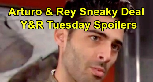 The Young and the Restless Spoilers: Tuesday, April 16 – Arturo Seeks a Deal with Rey – Sharon Gets a Shock – Abby Stands Her Ground