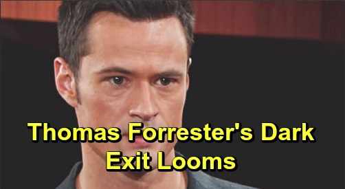 The Bold and the Beautiful Spoilers: Thomas Destined for Dark Exit – B&B Passed Up Villain's Redemption, Same Old Manipulative Abuser