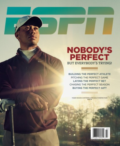 Imperfect Tiger Woods Appears On ESPN's The Perfect Issue Cover
