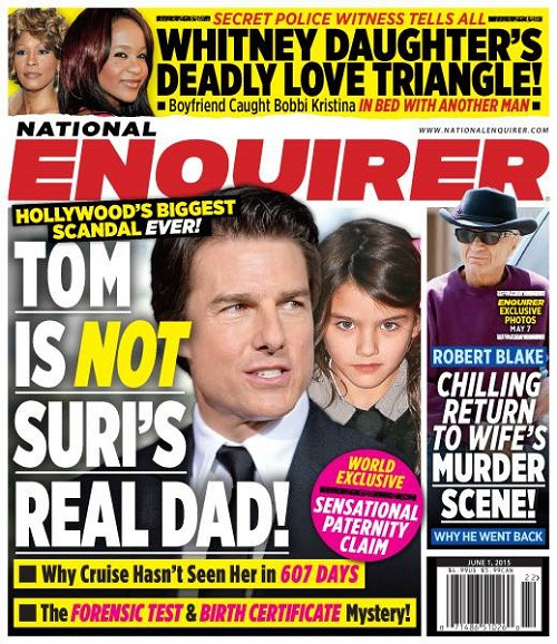 Tom Cruise Not Suri Cruise's Dad, Shocking New Report – Did Katie Holmes Cheat On Tom, Or was There A Sperm Donor?