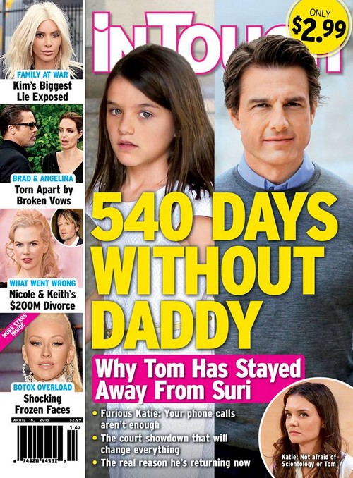 Tom Cruise Hasn't Seen Suri Cruise In 540 Days - Showdown With Katie Holmes