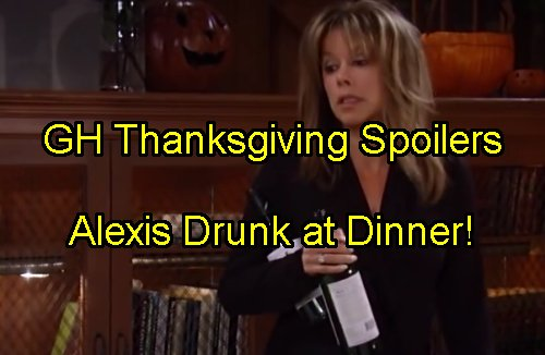 General Hospital Spoilers: Thanksgiving Preview – Alexis Gets Sloppy – Tracy Averts Turkey Day Disaster – Laura Turns to Sonny