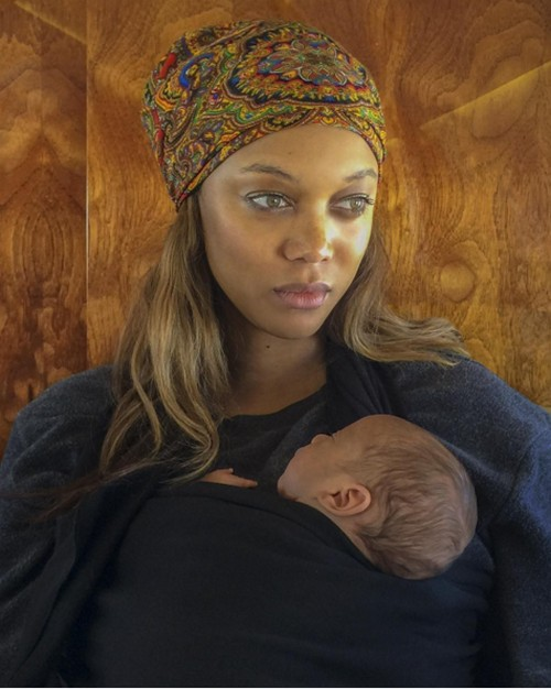 Tyra Banks Debuts First Photo Of Newborn Son Baby York On Valentine's Day
