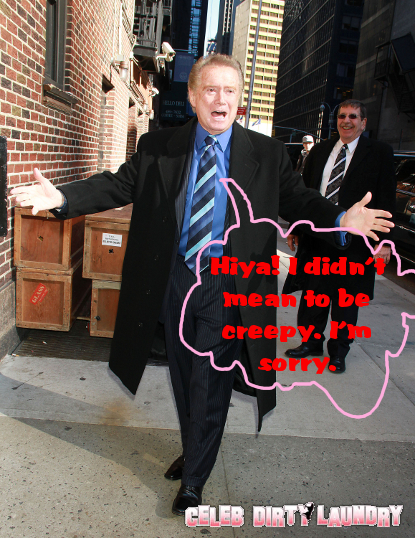 Regis Philbin Makes Creepy Comment To Kelly