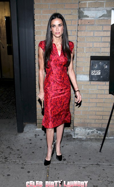 Demi Moore Steps Out On Solo Date Without Ashton Kutcher