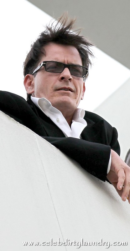 Charlie Sheen Learns From His Goddesses - Pimps Himself Out For Partying