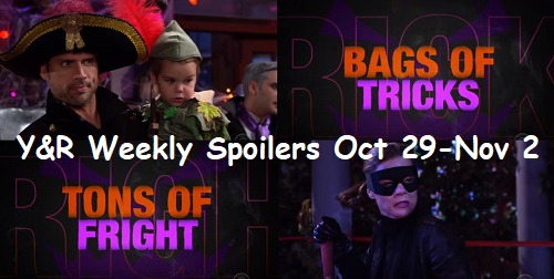 The Young and the Restless Spoilers: Week of October 29-November 2 – Spooky Discoveries, Family Destruction and Halloween Fun
