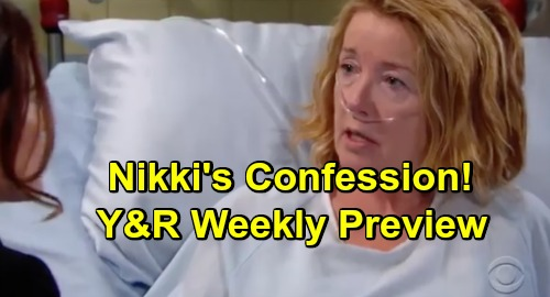 The Young and the Restless Spoilers: Y&R Promo Week of December 31 – Nikki's Startling Confession – New Year's Kisses