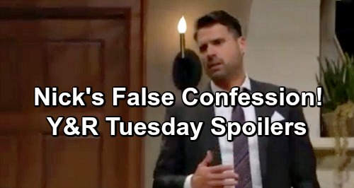 The Young and the Restless Spoilers: Tuesday, January 15 – Nick's False Murder Confession to Clear Victor, Protect Nikki