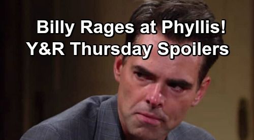 The Young and the Restless Spoilers: Thursday, March 14 – Victor Vows Save Family, Catch J.T. – Phyllis The Rat Faces Billy Fury
